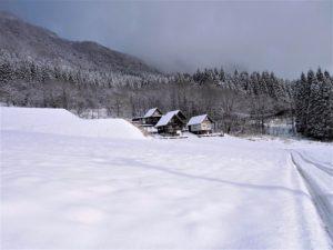 ハチ北ゲレンデ雪景色