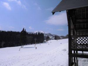 ハチ北スキー場景色
